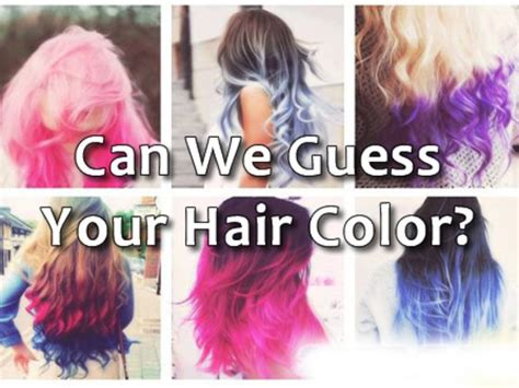 what color hair do you can we guess your hair color playbuzz
