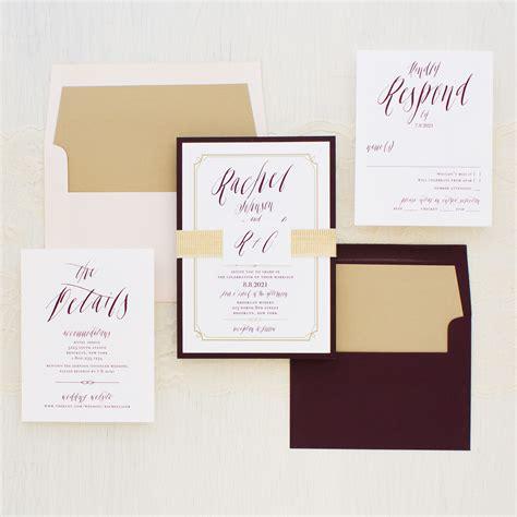blush wedding invitations blush burgundy wedding invitations beacon 1989