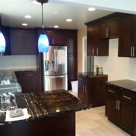 kitchen cabinet espresso shaker yelp
