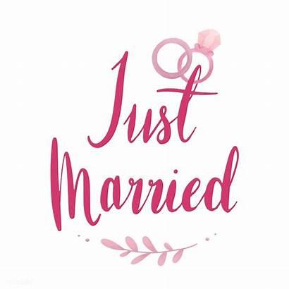 Married Rawpixel Typography Gerade Verheirateter Sticker Quotes