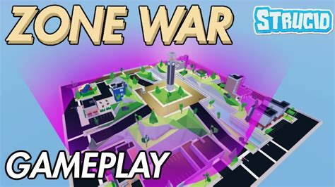 zone wars gameplay  strucid roblox youtube