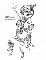 Jadedragonne Coloring Deviantart Lineart 1920 Flapper Jade Dragonne Printable Blank Drawings Coloriage Colouring Coloriages Stamps Princess Pinup Gothic Books Visiter sketch template