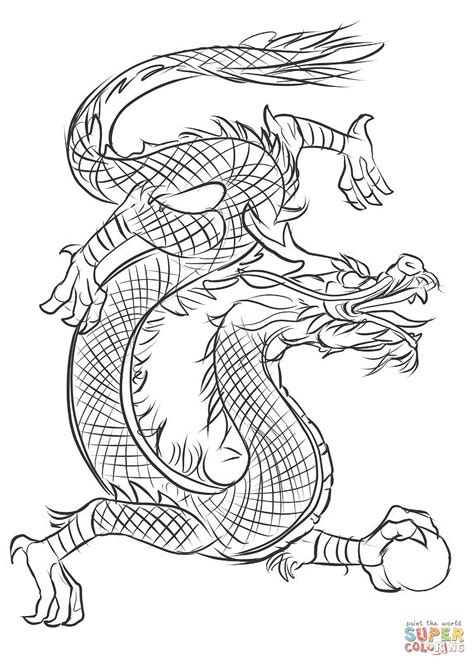 Asian Dragon coloring page Free Printable Coloring Pages