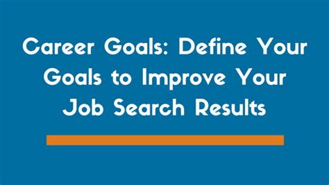 Exles Of Career Goals by Career Goals 4 Tips On How To Define Them Exles