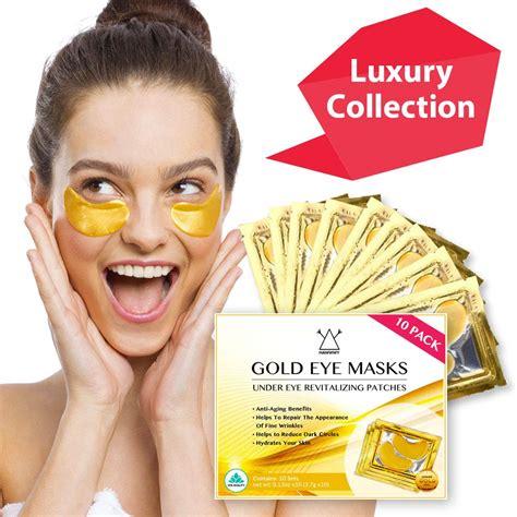 Hawwwy 24k Gold Eye Masks Collagen Under Eye Patches