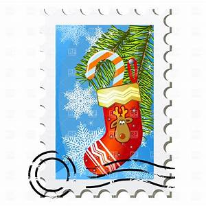christmas postage clipart clipart suggest With christmas letter stamp