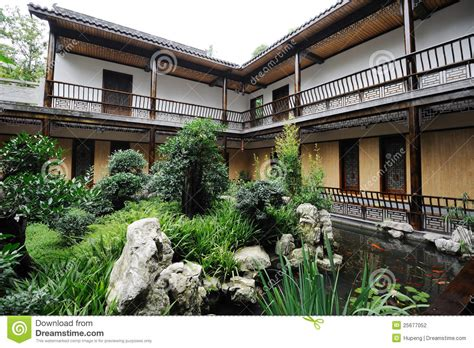chinese courtyard stock photography image