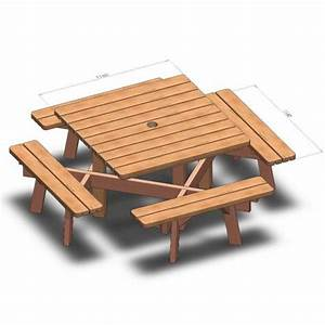 Table De Jardin Ronde En Bois : table de jardin carr e en bois 8 places ~ Dailycaller-alerts.com Idées de Décoration