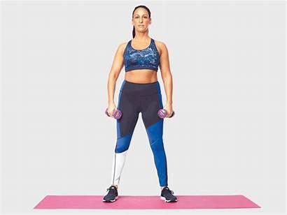 Leg Squat 30s Training Dumbbell Strength Wide