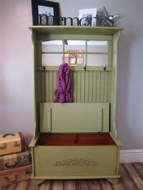 Storage Bench with Coat Rack