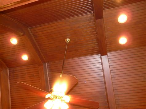 image of glass stair luxury vaulted ceiling lighting robinson house