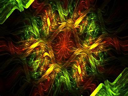 Fractal Pattern Abstraction Bright Lines Standard Background