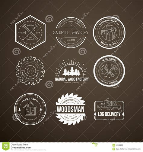 lumberjack logos stock vector illustration  lumberjack