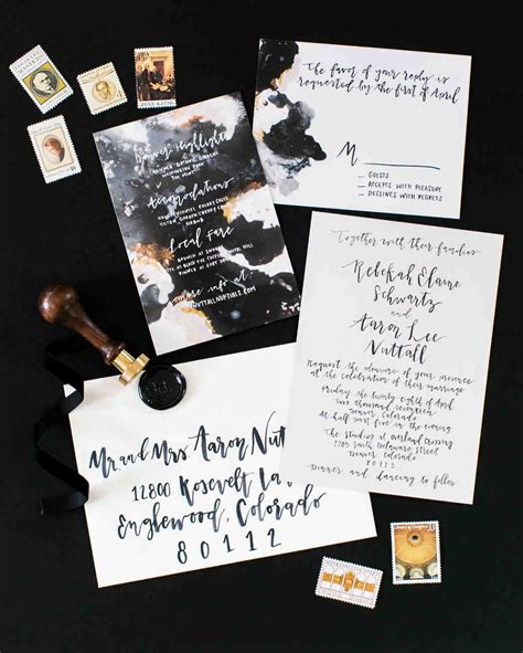 30 Modern Wedding Invitations We Love Martha Stewart