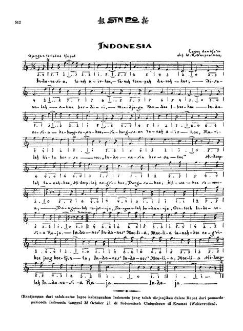 partitur lagu indonesia raya 4 suara indonesia raya hymne national wikipédia