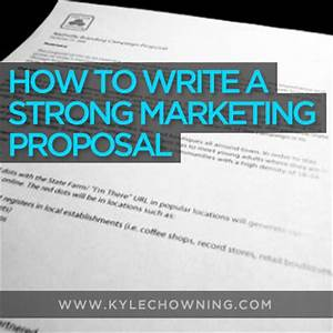 how to write a strong marketing proposal w free template With proposal for marketing services template