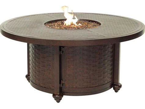 Gas Pit Table With Lid by Castelle Quarter Cast Aluminum 49 Coffee