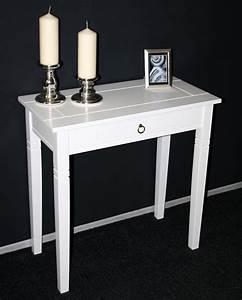 Wäschetruhe Holz Weiß : massivholz konsolentisch wandtisch beistelltisch holz massiv wei lackiert ~ Indierocktalk.com Haus und Dekorationen