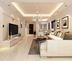 Elegantes Wohnzimmer In Wei Gestalten Und Angehngte