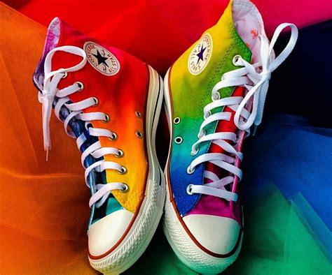 Tie Dye Rainbow Converse