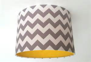 grey chevron fabric yellow vinyl lshade