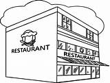 Coloring Restaurant Kolorowanki Dzieci Dla Printable Restauracje Building Template Restaurants Sketch sketch template
