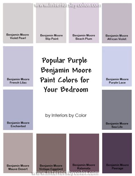 color palette for home interiors popular purple paint colors for your bedroom interiors
