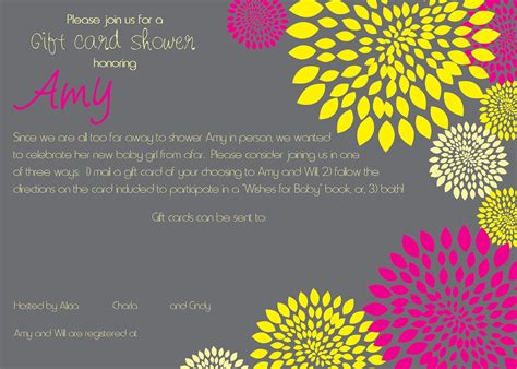Reply To Baby Shower Invitation by Top 10 Ideas Gift Card Shower Invitation Wording Poem