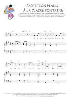 partition de piano pour d 233 butant quot 224 la fontaine quot jean baptiste voinet partitions de