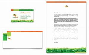 lawn care flyers templates free lawn maintenance business card letterhead template design