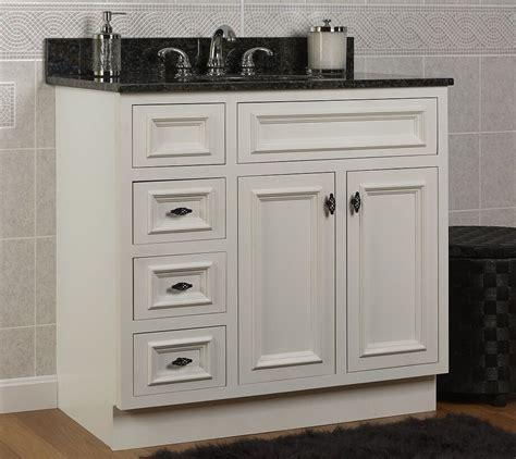 Bathroom Base Cabinets by Jsi Danbury 36 Quot White 3 Lh Drawer Bathroom Vanity Base