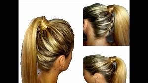Coiffure Queue De Cheval : tuto coiffure queue de cheval tress dans la nuque youtube ~ Melissatoandfro.com Idées de Décoration