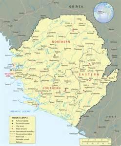 Sierra Leone Map - Africa Sierra Leone