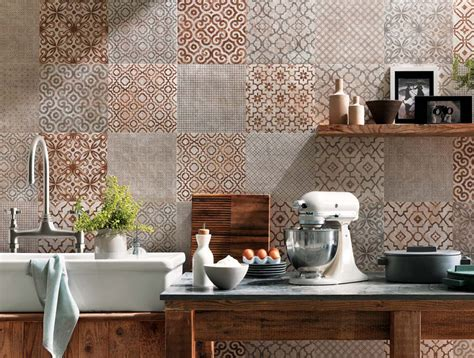carrelage vintage cuisine tiled kitchen walls ideas and trendy colors ideas for