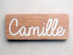 Plaques De Portes : plaque de porte en bois avec gravure sur mesure ~ Melissatoandfro.com Idées de Décoration