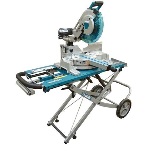 home depot standing ls makita 15 amp 12 in dual slide compound miter saw with