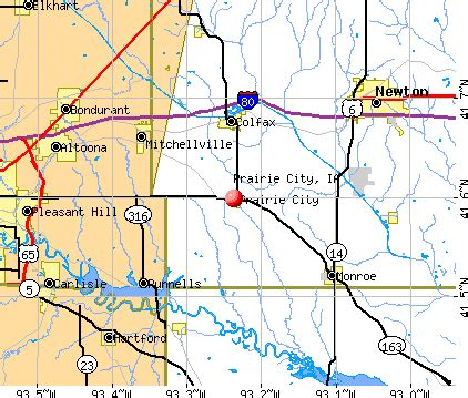 Knoxville Iowa City Map