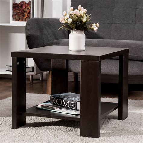 Free shipping on orders over $35. Giantex Living Room End Coffee Table Square Sofa Side coffee Tea Table with Storage Shelf Modern ...