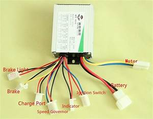 Motor Brush Controller 36v 500w Speed Governor For