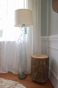 Diy glass floor lamp for Diy glass floor lamp