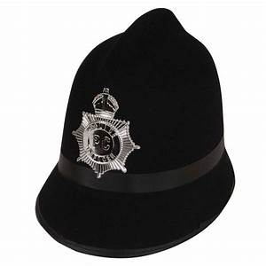 London Bobby Police Hat Policeman Black Fancy Dress ...