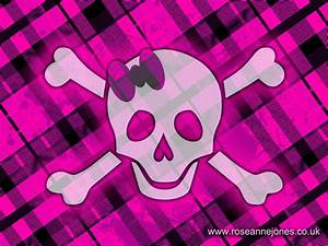 Pink skulls wallpaper |Clickandseeworld is all about Funny ...