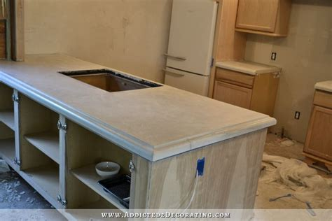 concrete countertops diy finished concrete countertops finishing steps total cost