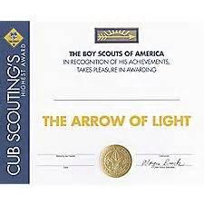 printable arrow of light certificate template cub scout With arrow of light certificate template