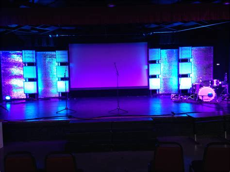 portable reflections church stage design ideas