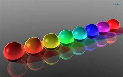 3d Glass Colorful Wallpapers Abstract Balls Rgb