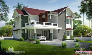 Stunning Villa House Designs Photos beautiful sloping roof villa kerala house design idea