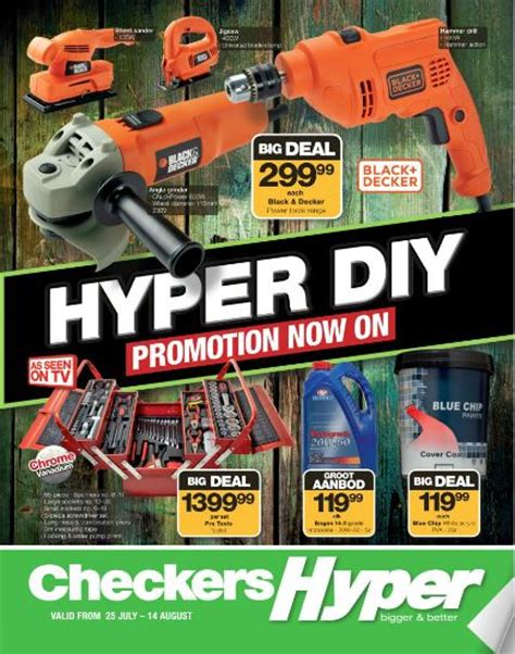 checkers hyper diy specials  jul   aug
