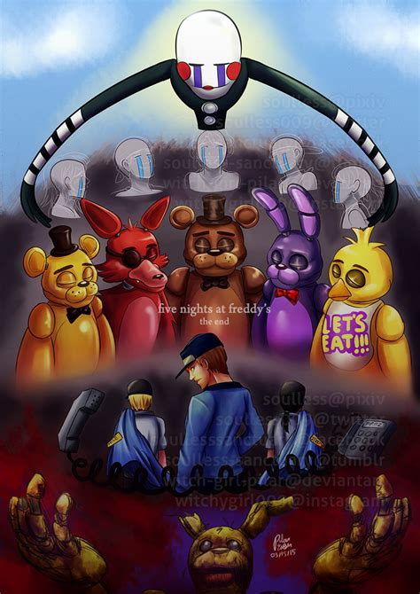 fnaf the end contains fnaf3 spoilers by witch pilar on deviantart