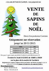 Vente Sapin De Noel : vente de sapins les amis de l 39 cole de garidech ~ Melissatoandfro.com Idées de Décoration